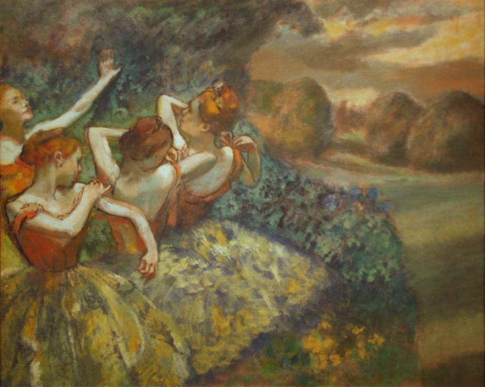 Edgar Degas Four Dancers, Canvas, Edgar Degas, kanvas tablo, canvas print sales