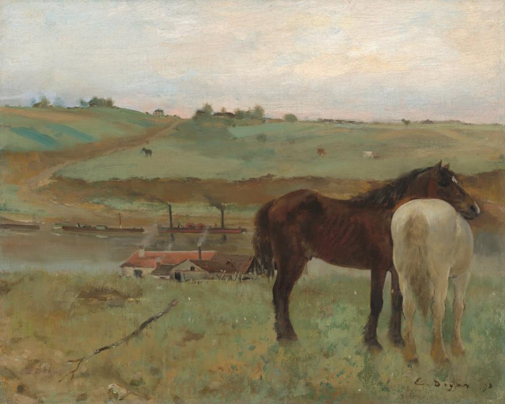 Edgar Degas Horses In A Meadow, Canvas, Edgar Degas, kanvas tablo, canvas print sales