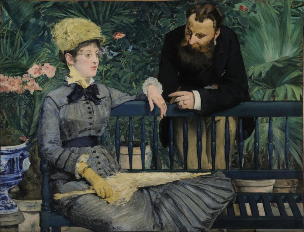 Edouardo Manet In The Conservatory, Canvas, Édouard Manet, kanvas tablo, canvas print sales