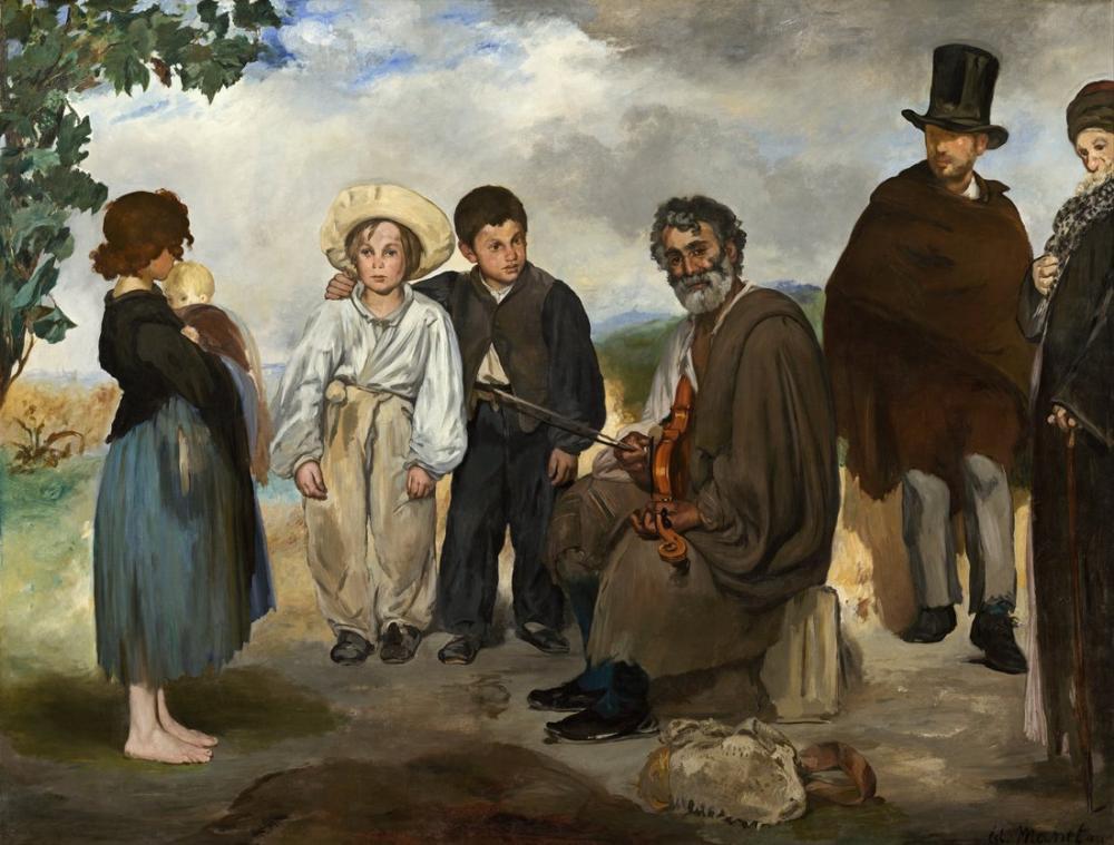 Edouard Manet Eski Müzisyen, Kanvas Tablo, Édouard Manet, kanvas tablo, canvas print sales