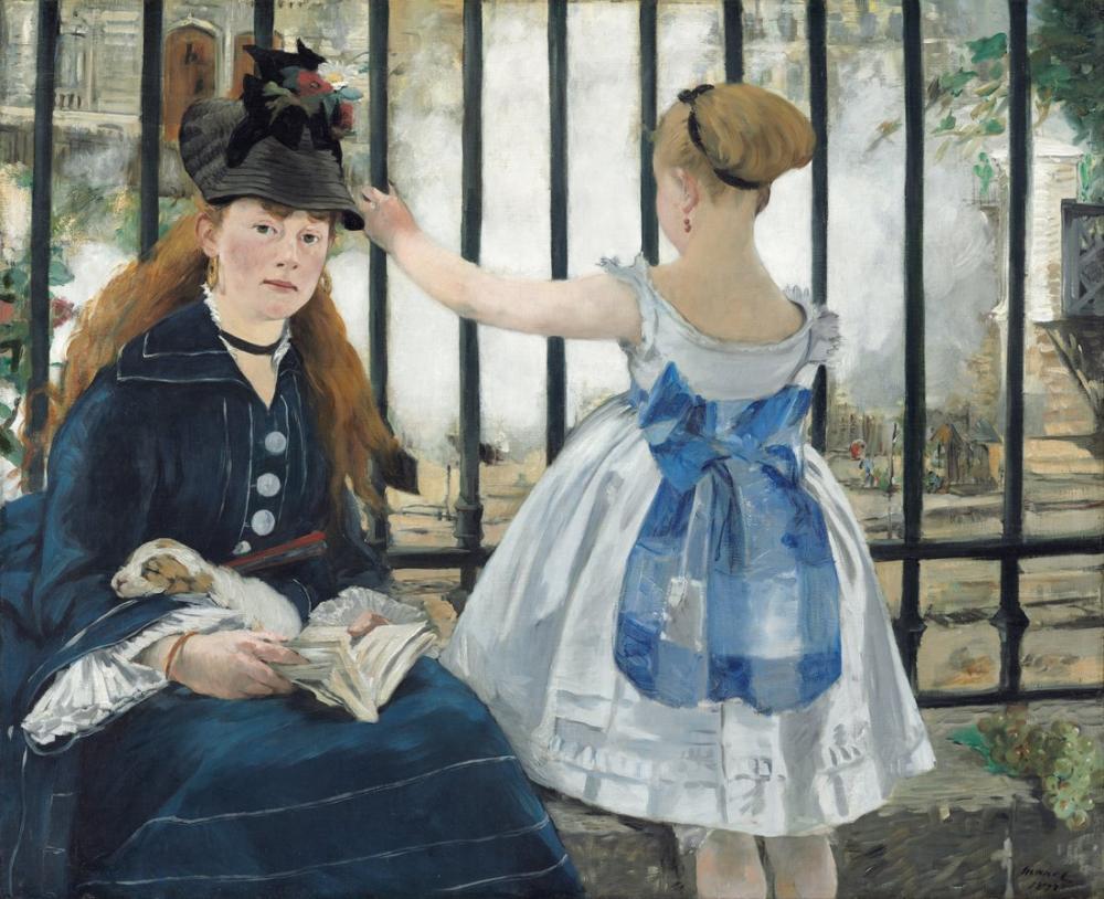 Edouardo Manet The Railway, Canvas, Édouard Manet, kanvas tablo, canvas print sales
