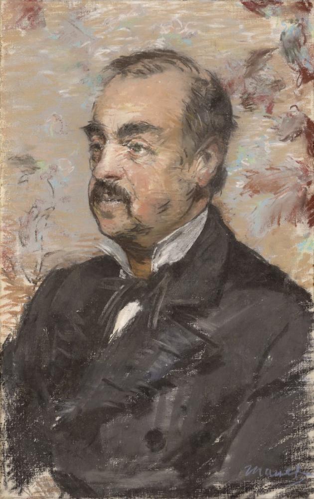 Edouardo Manet Portrait Of Julien De La Rochenoire, Canvas, Édouard Manet, kanvas tablo, canvas print sales