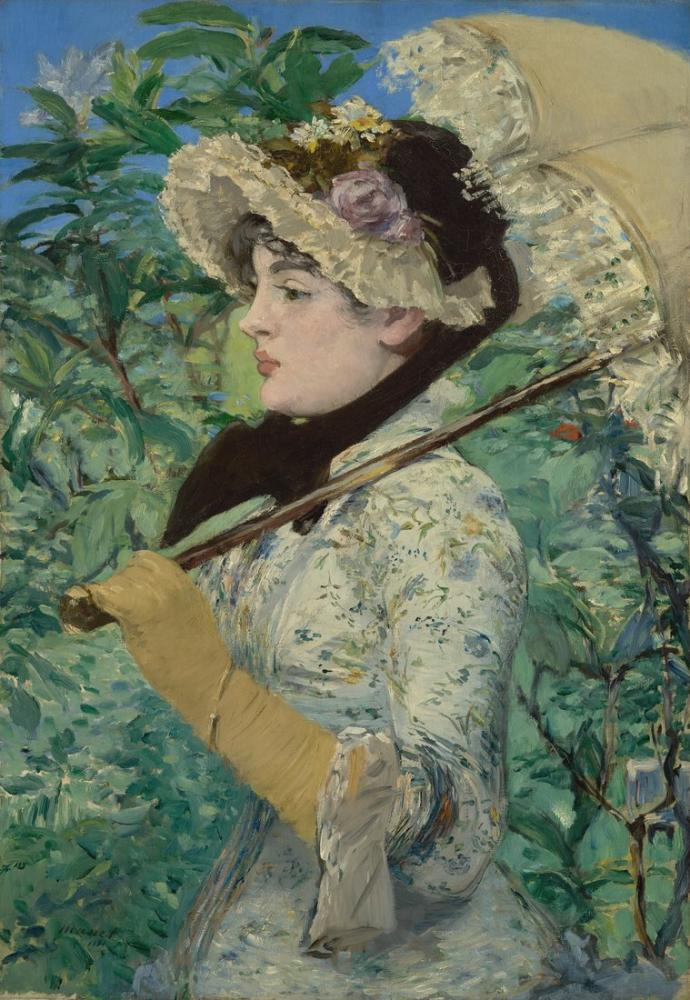 Edouardo Manet Jeanne Spring, Canvas, Édouard Manet, kanvas tablo, canvas print sales