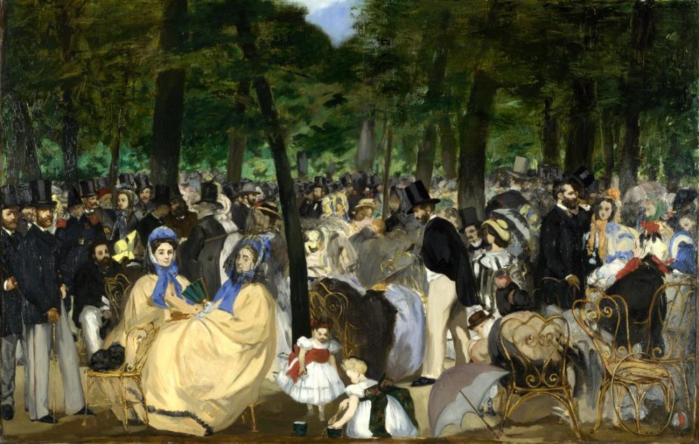 Edouardo Manet Music In The Tuileries, Canvas, Édouard Manet, kanvas tablo, canvas print sales