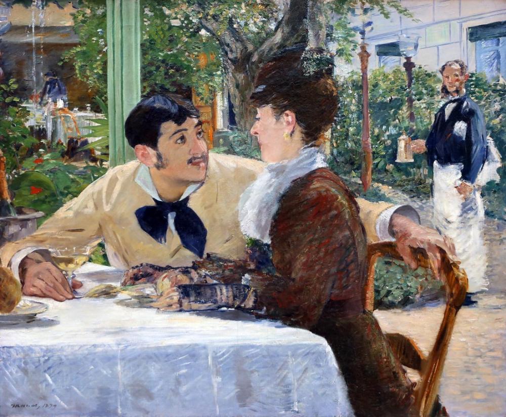 Edouardo Manet Music At The Father Lathuille, Canvas, Édouard Manet, kanvas tablo, canvas print sales
