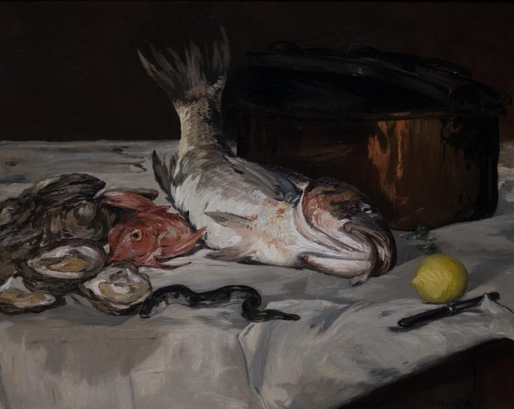 Edouard Manet Balık Natürmort, Kanvas Tablo, Édouard Manet, kanvas tablo, canvas print sales