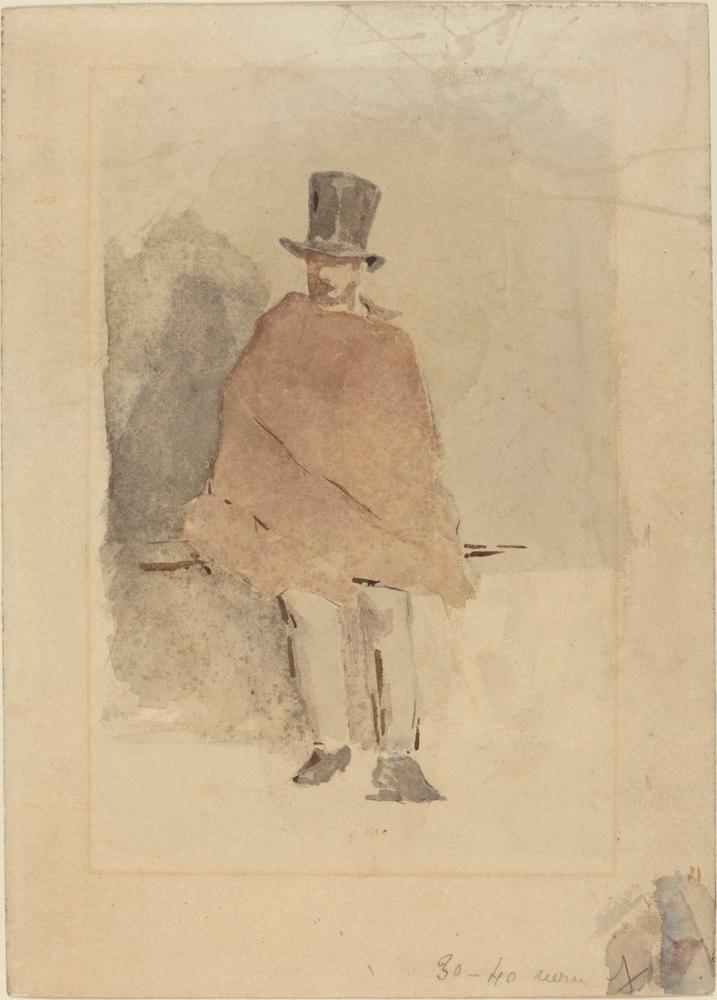 Edouard Manet Uzun Şapkalı Adam, Kanvas Tablo, Édouard Manet, kanvas tablo, canvas print sales