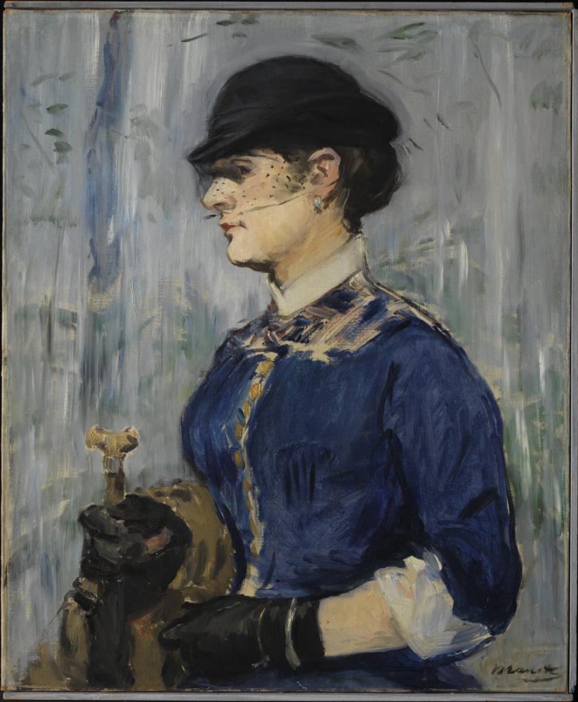 Edouardo Manet Young Woman In A Round Hat, Canvas, Édouard Manet, kanvas tablo, canvas print sales