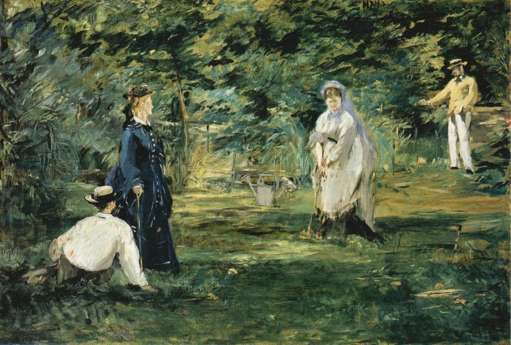 Edouardo Manet The Croquet Game, Canvas, Édouard Manet, kanvas tablo, canvas print sales