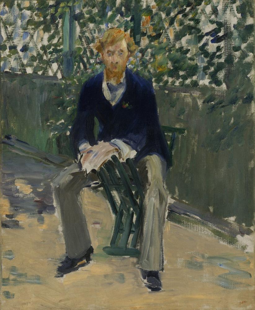 Edouardo Manet George Moore In The Artists Garden, Canvas, Édouard Manet, kanvas tablo, canvas print sales