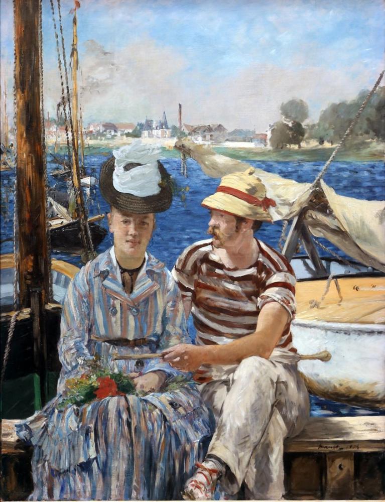 Edouardo Manet Argenteuil, Canvas, Édouard Manet, kanvas tablo, canvas print sales