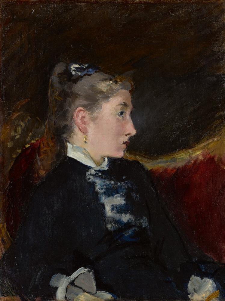 Edouard Manet Kız Profili, Kanvas Tablo, Édouard Manet, kanvas tablo, canvas print sales
