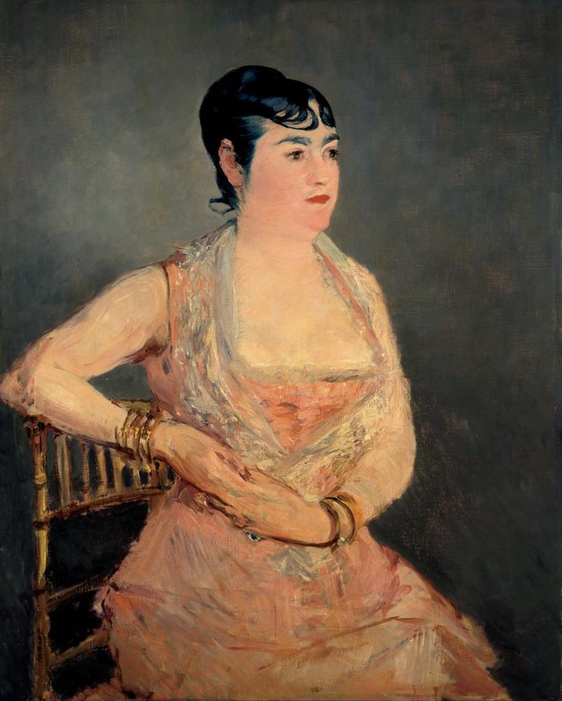 Edouardo Manet Lady In Pink, Canvas, Édouard Manet, kanvas tablo, canvas print sales