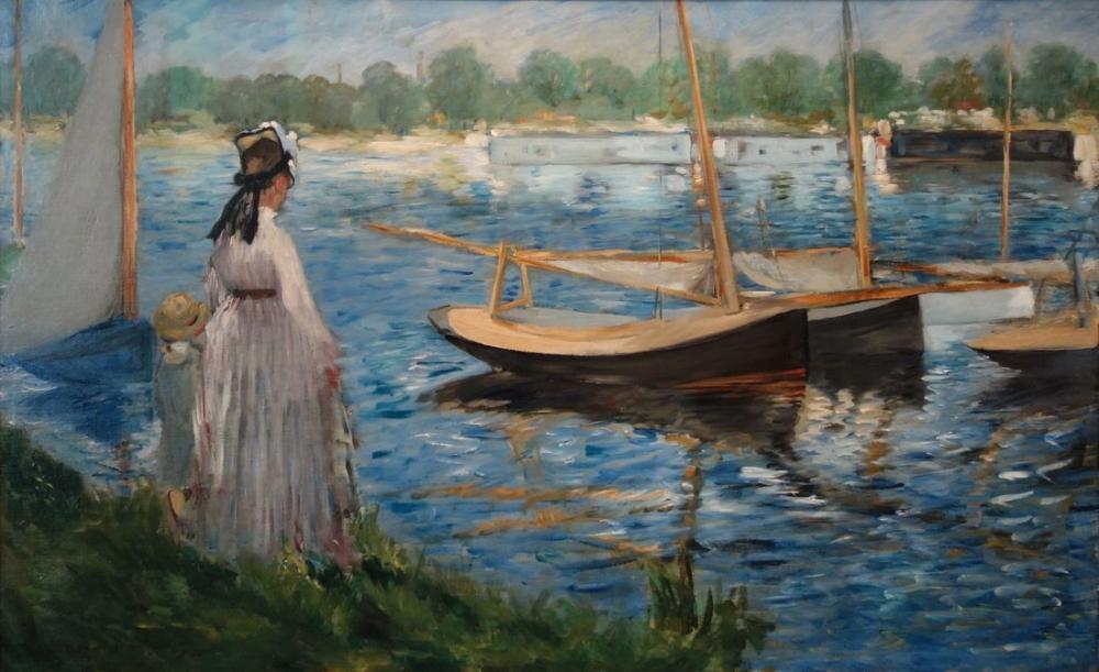 Edouardo Manet The Seine At Argenteuil, Canvas, Édouard Manet, kanvas tablo, canvas print sales