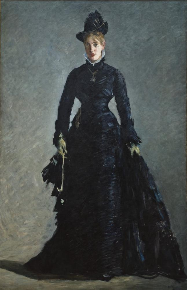 Edouardo Manet A Parisian Lady, Canvas, Édouard Manet, kanvas tablo, canvas print sales