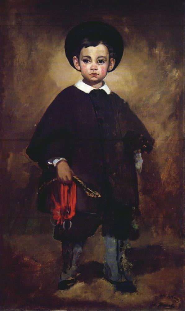 Edouardo Manet Little Lange, Canvas, Édouard Manet, kanvas tablo, canvas print sales