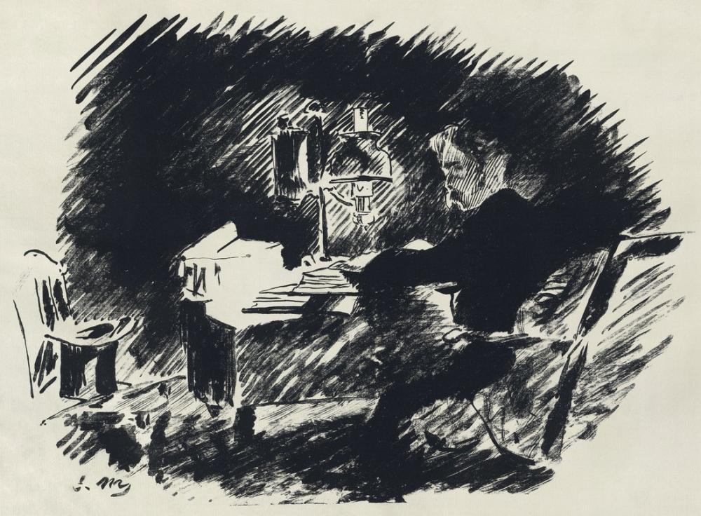 Edouardo Manet Illustration For Edgar Allan Poe, Canvas, Édouard Manet, kanvas tablo, canvas print sales