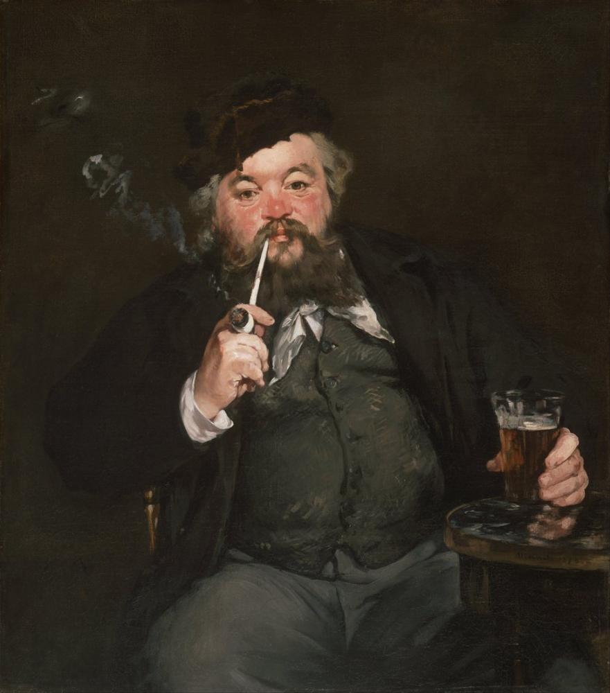 Edouardo Manet French The Good Bock, Canvas, Édouard Manet, kanvas tablo, canvas print sales