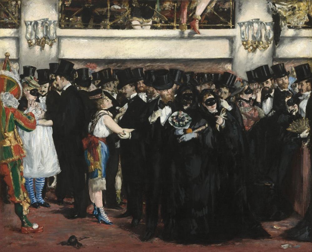 Edouardo Manet Masked Ball At The Opera, Canvas, Édouard Manet, kanvas tablo, canvas print sales