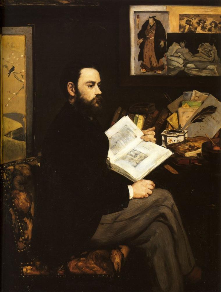 Edouardo Manet Portrait Of Emile Zola, Canvas, Édouard Manet, kanvas tablo, canvas print sales