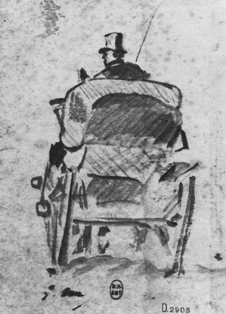 Edouardo Manet The Cab Seen From Behind, Canvas, Édouard Manet, kanvas tablo, canvas print sales
