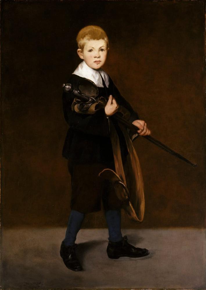 Edouard Manet Kılıçlı Çocuk, Kanvas Tablo, Édouard Manet, kanvas tablo, canvas print sales