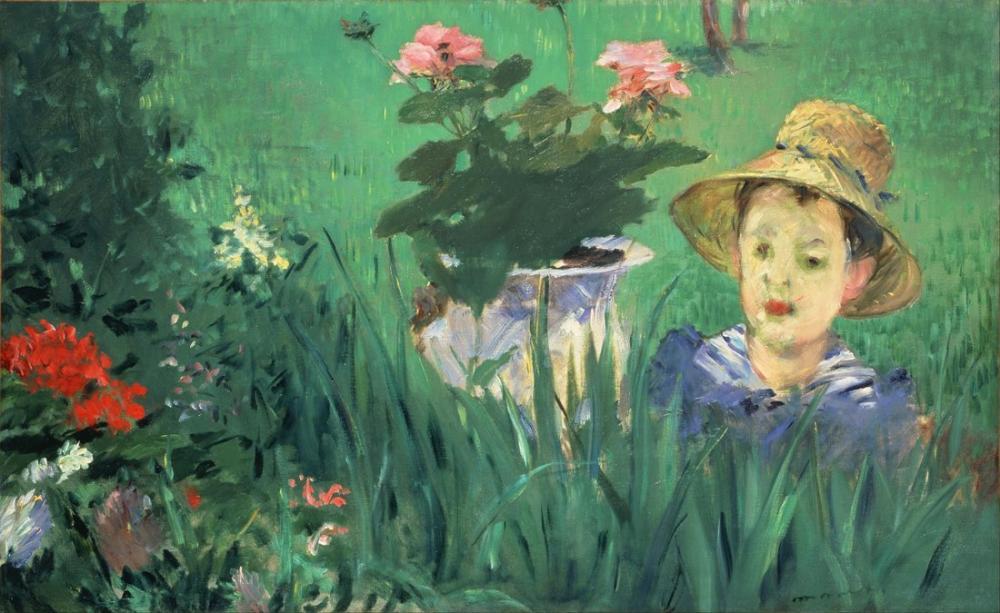 Edouardo Manet Boy In Flowers Jacques Hoschede, Canvas, Édouard Manet, kanvas tablo, canvas print sales