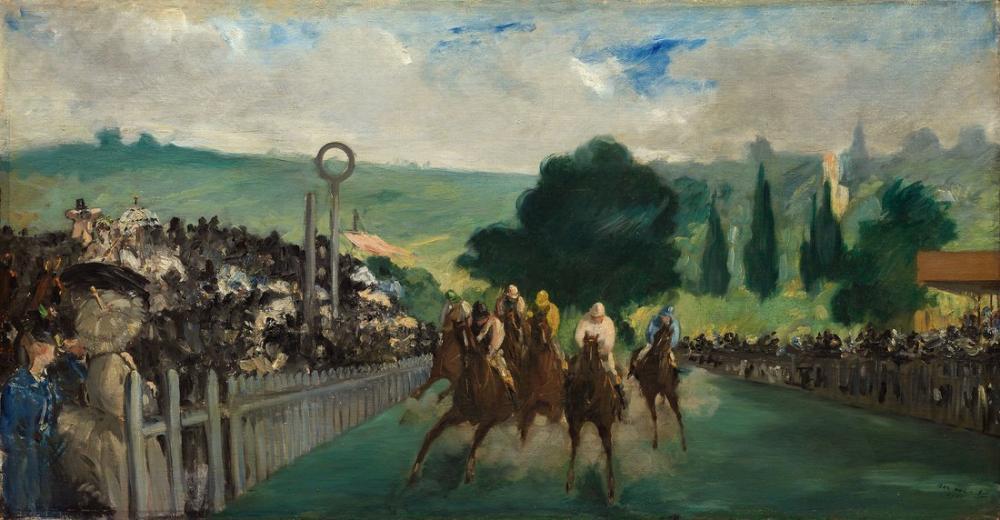 Edouardo Manet The Races At Longchamp, Canvas, Édouard Manet, kanvas tablo, canvas print sales