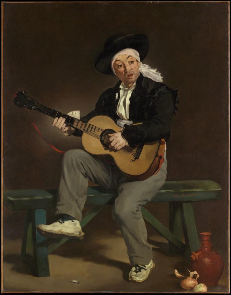 Edouard Manet İspanyol Şarkıcı, Kanvas Tablo, Édouard Manet, kanvas tablo, canvas print sales