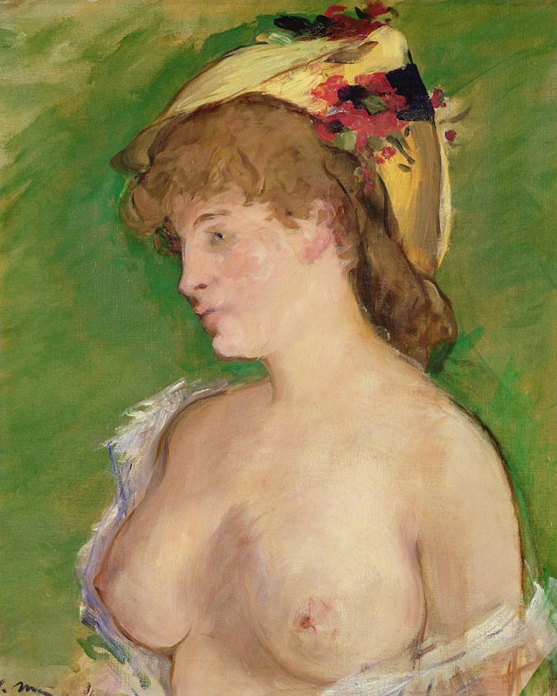 Edouardo Manet Nude Blonde, Canvas, Édouard Manet, kanvas tablo, canvas print sales