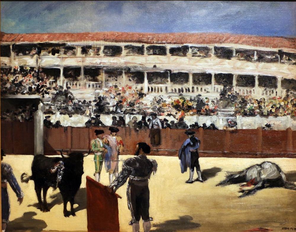 Edouard Manet Boğa Güreşi, Kanvas Tablo, Édouard Manet, kanvas tablo, canvas print sales