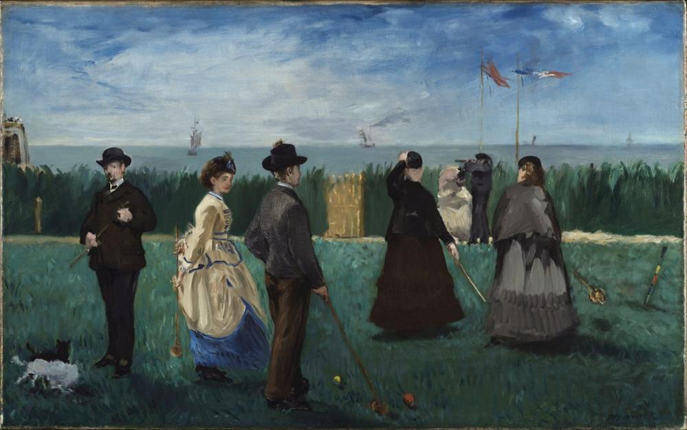 Edouardo Manet Croquet At Boulogne, Canvas, Édouard Manet, kanvas tablo, canvas print sales