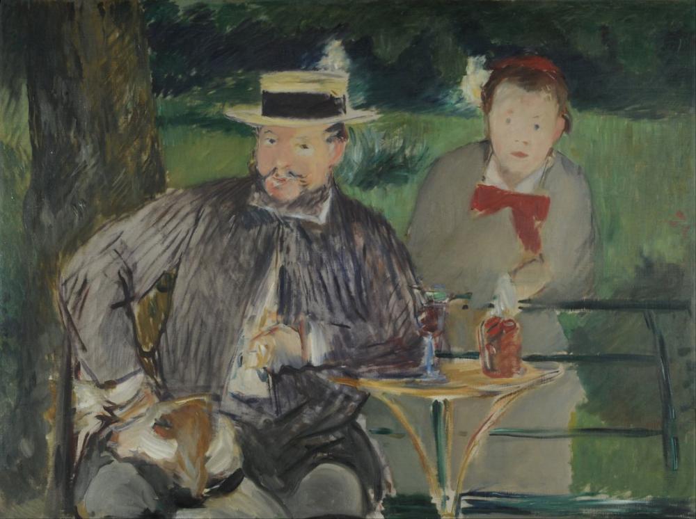 Edouardo Manet Portrait Of Ernest Hoschede And His Daughter Martha, Canvas, Édouard Manet, kanvas tablo, canvas print sales