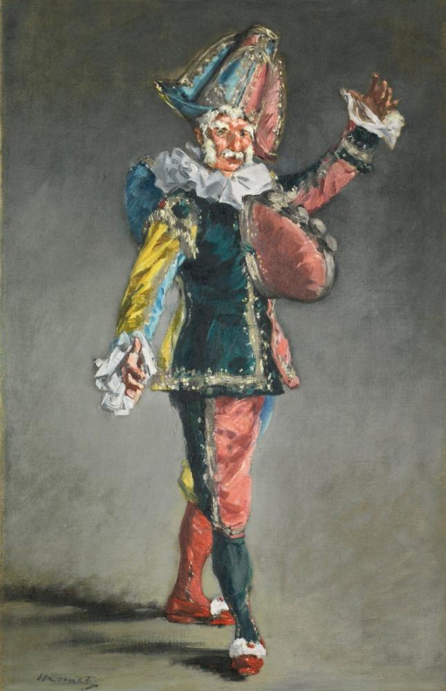 Edouardo Manet Polichinelle, Canvas, Édouard Manet, kanvas tablo, canvas print sales