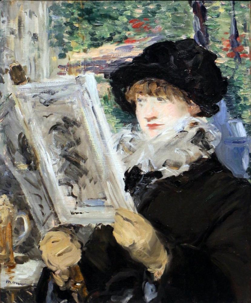 Edouard Manet Okuyan Kadın, Kanvas Tablo, Édouard Manet, kanvas tablo, canvas print sales