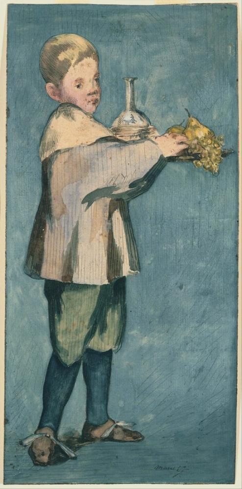 Edouard Manet Boy Carrying A Tray, Canvas, Édouard Manet, kanvas tablo, canvas print sales