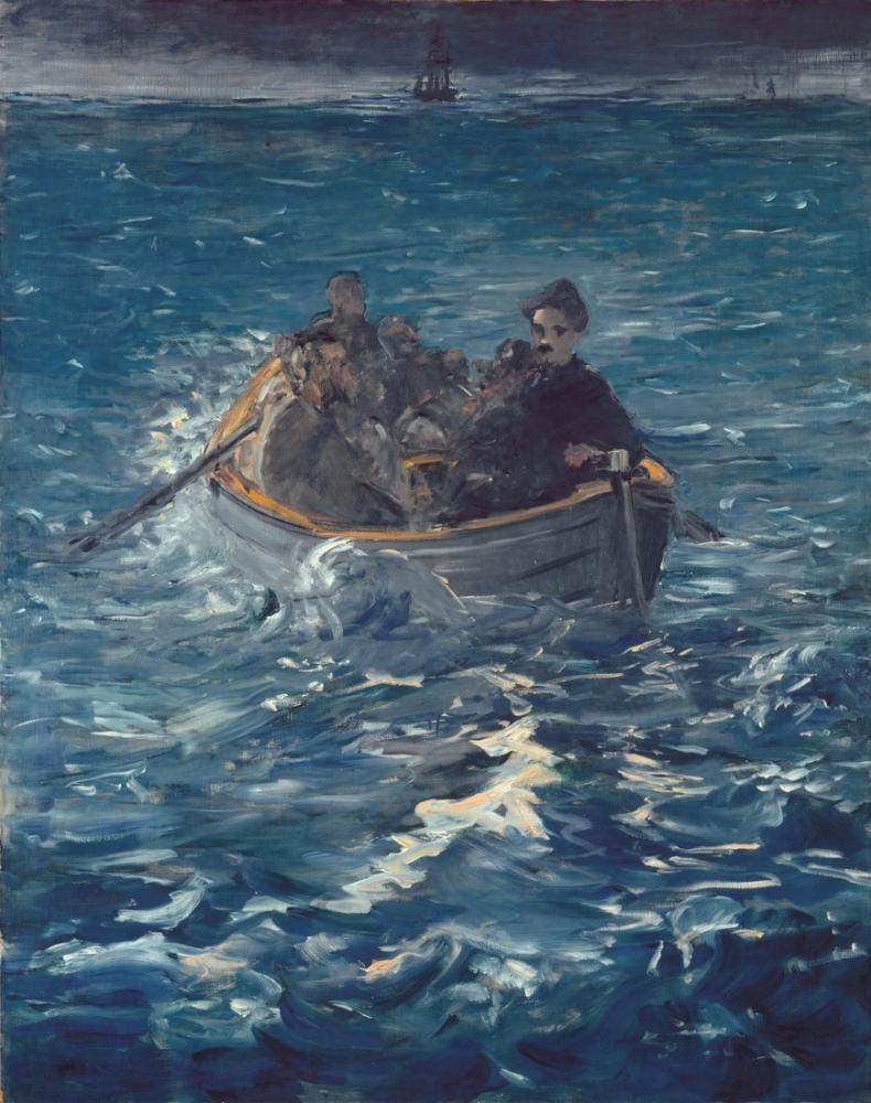 Edouard Manet Rochefort Kaçışı, Kanvas Tablo, Édouard Manet, kanvas tablo, canvas print sales