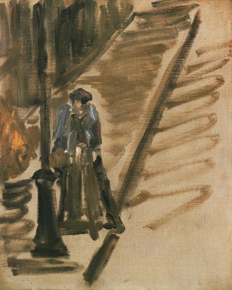 Edouardo Manet Rue Mosnier Aux Remouleur, Canvas, Édouard Manet, kanvas tablo, canvas print sales