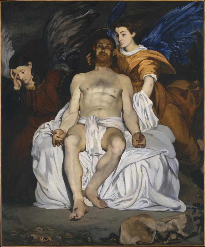 Edouard Manet The Dead Christ With Angels, Canvas, Édouard Manet, kanvas tablo, canvas print sales