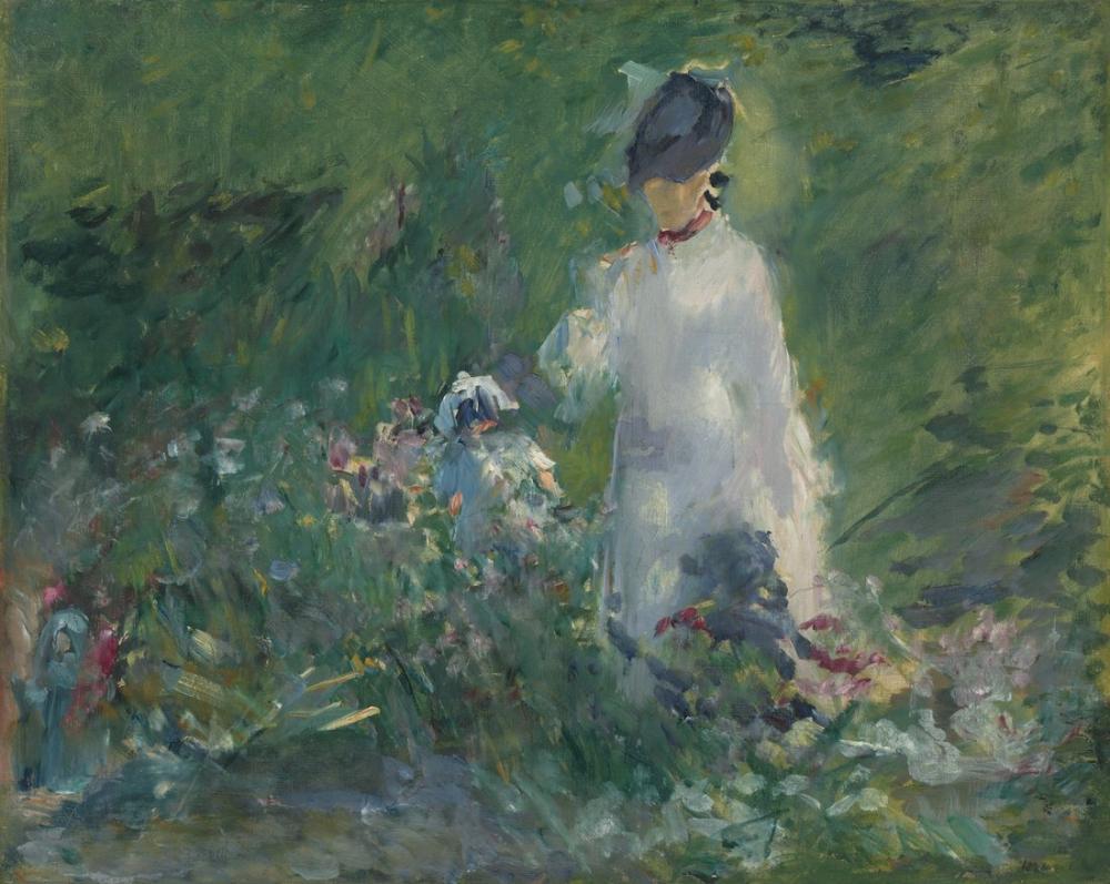Edouard Manet Çiçekler Genç Kadın, Kanvas Tablo, Édouard Manet, kanvas tablo, canvas print sales