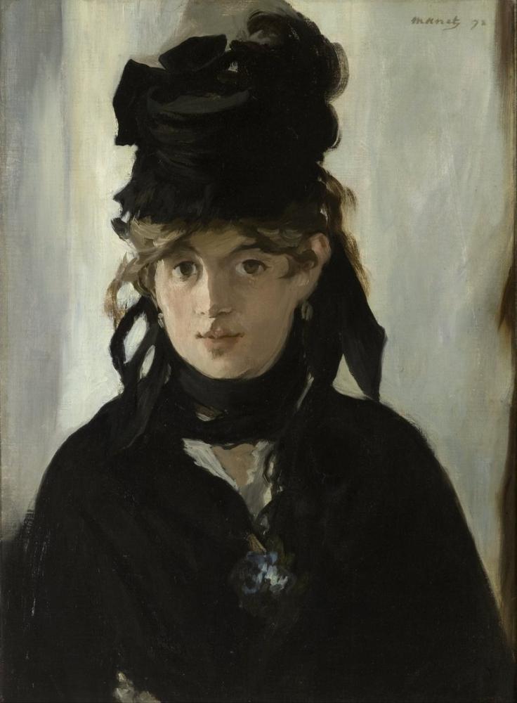 Edouard Manet Berthe Morisot Menekşe İle Buket, Kanvas Tablo, Édouard Manet, kanvas tablo, canvas print sales