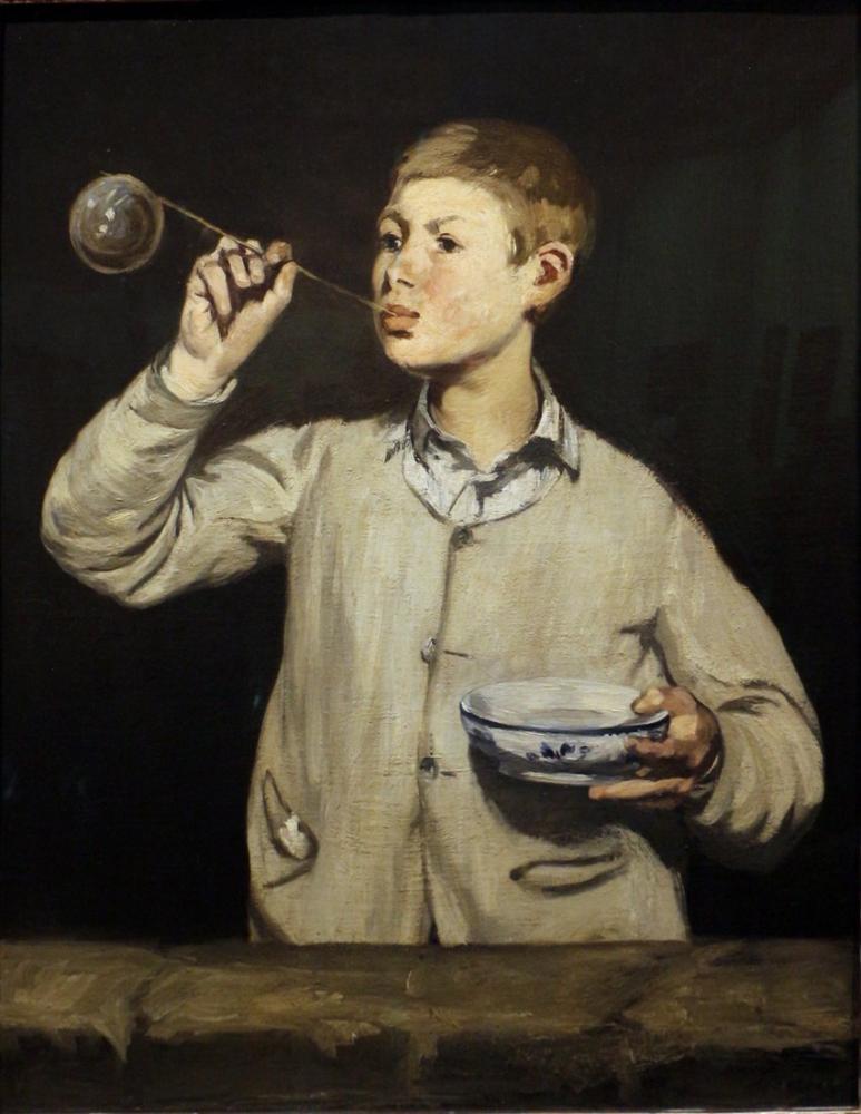 Edouard Manet Boy Making Bubbles, Canvas, Édouard Manet, kanvas tablo, canvas print sales