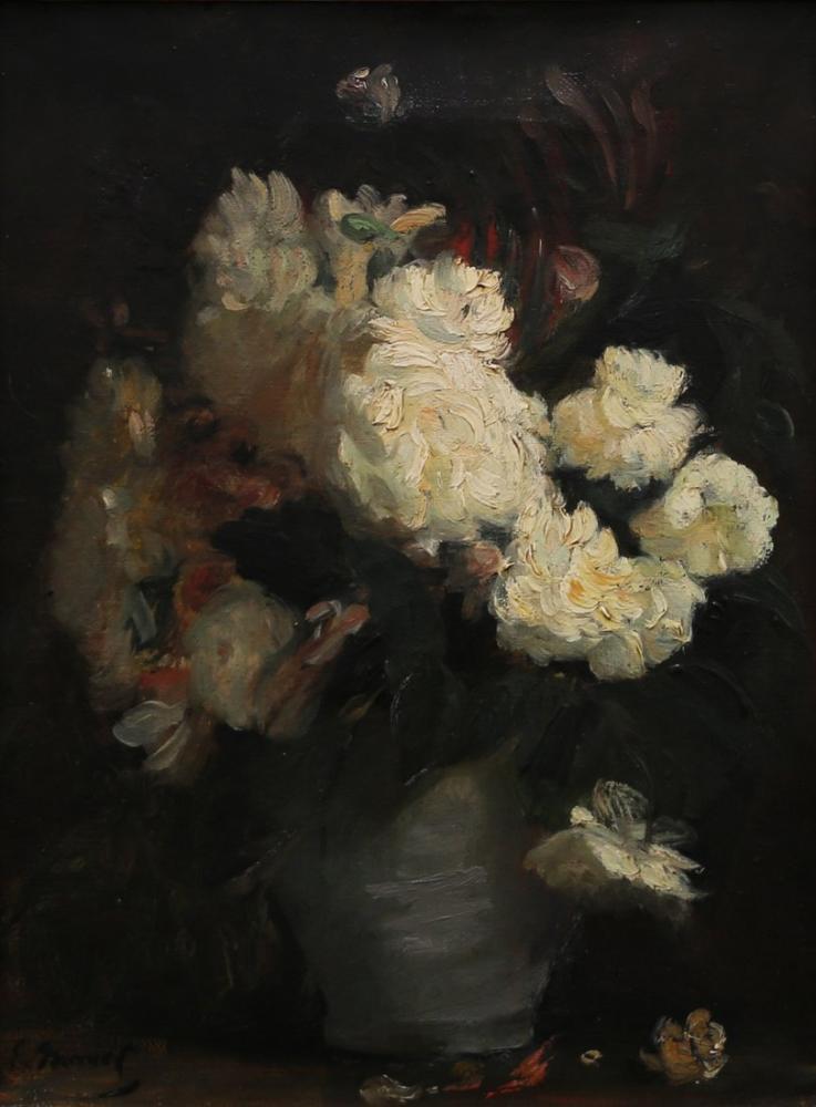Edouard Manet Şakayık Ve Diğer Çiçeklerle Natürmort, Kanvas Tablo, Édouard Manet, kanvas tablo, canvas print sales