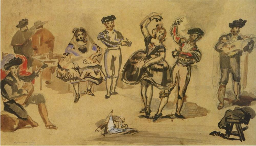 Edouard Manet İspanyol Balesi, Kanvas Tablo, Édouard Manet, kanvas tablo, canvas print sales