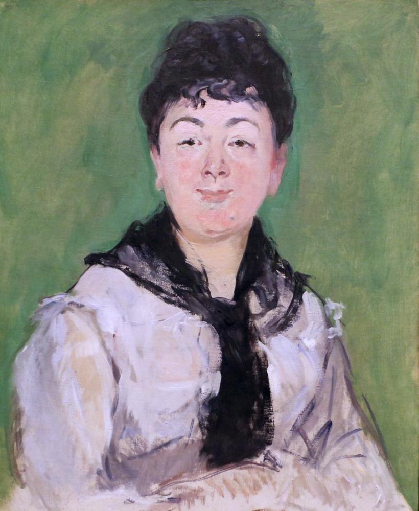 Edouard Manet Siyah Yakalı Kadın Portresi, Kanvas Tablo, Édouard Manet, kanvas tablo, canvas print sales