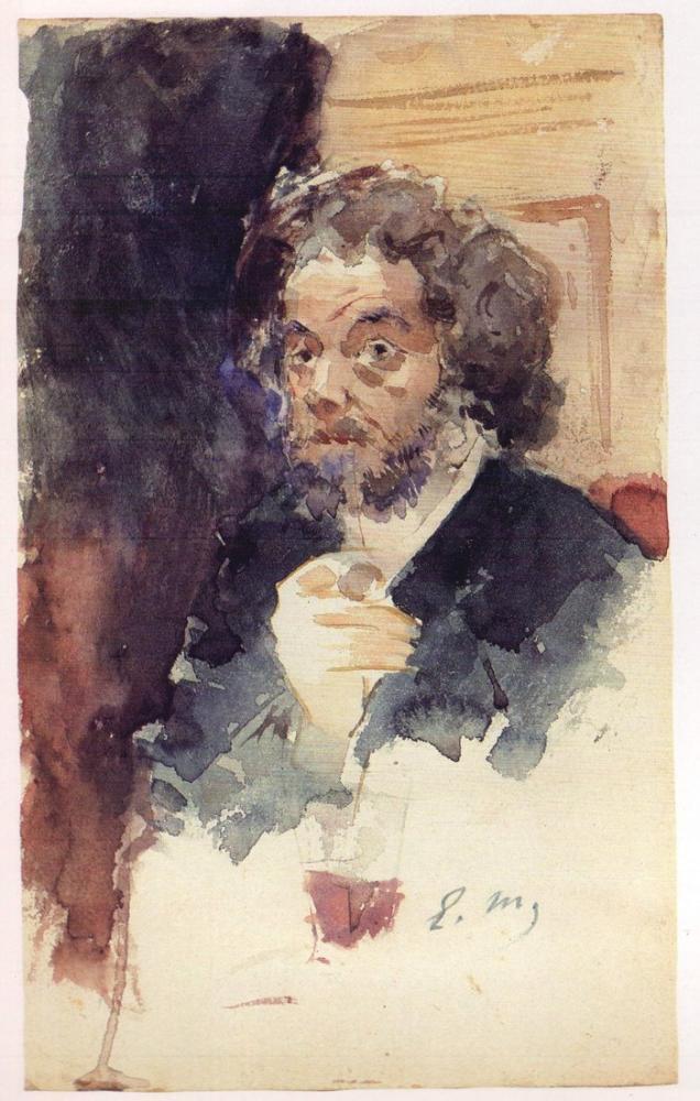 Edouard Manet Marcellin Desboutin Portresi, Kanvas Tablo, Édouard Manet, kanvas tablo, canvas print sales