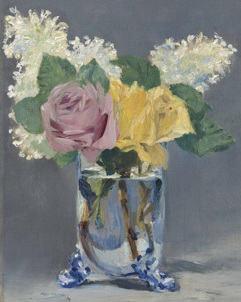 Edouard Manet Leylak Ve Güller, Kanvas Tablo, Édouard Manet, kanvas tablo, canvas print sales