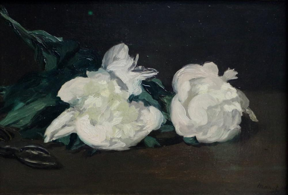 Beyaz Şakayık Ve Makas, Kanvas Tablo, Édouard Manet, kanvas tablo, canvas print sales