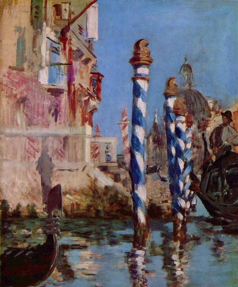 Edouard Manet Büyük Kanal Venedik, Kanvas Tablo, Édouard Manet, kanvas tablo, canvas print sales