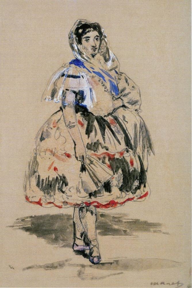 Edouard Manet Lola From Valencia, Canvas, Édouard Manet, kanvas tablo, canvas print sales